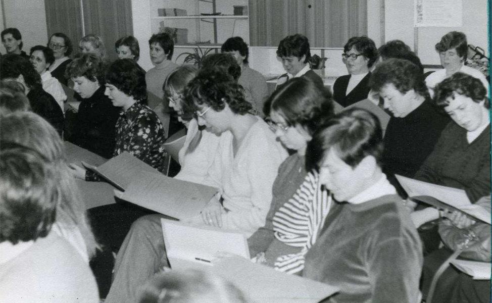 1984_Erste Chorprobe